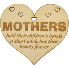 Heart Shaped Plaque Mother's Day 100x89mm