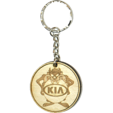 Taz Wood Keyring with Logo - Kia